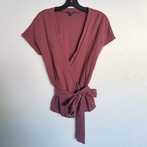 Express Wrapped Short Sleeve Stretch Top Jacket
